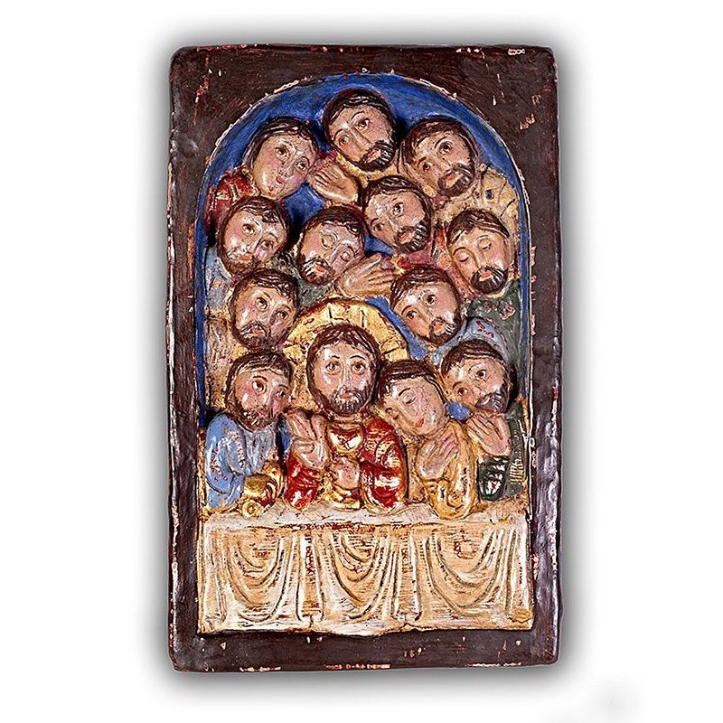 Romanesque relief of the Lord's Supper